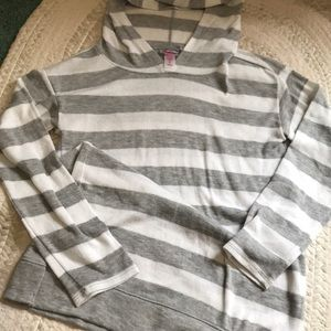 Hooded Striped Justice Shirt